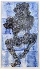 Deniz Tanrıları 1, 132x75 cm, Çini Duvar Panosu, 2016