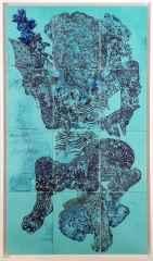 Deniz Tanrıları 2, 132x75 cm, Çini Duvar Panosu, 2016