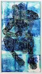 Deniz Tanrıları 4, 132x75 cm, Çini Duvar Panosu, 2016