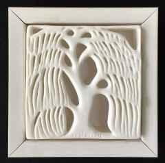 Salkım Söğüt V, 12x12x4cm, Porselen, Dökümle ve Elle Şekillendirme, 1200°C, 2016