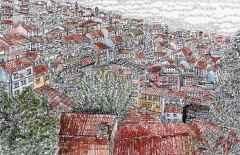 'Bursa Muradiye', 18x24 cm, Kağıt Üzerine Suluboya, 2015