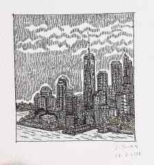 'Newyork', 5.5x6 cm, Kağıt Üzerine Rapido Kalem, 2015