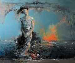 Hüseyin Yıldırım - 'Teninden Sessizlik Dökülür Maviye', 50x60 cm, TÜYB, 2018