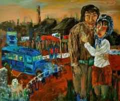 """100x120 cm - TÜYB - 2012 - """"İşgal Günlerinde Aşk"""""""