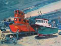 'Tamirde Tekneler'<br />60x80, TÜYB, 2014