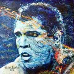 Hakan Sarıhan - 'My M.Ali', 25x25 cm, TÜYB, 2016