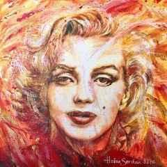 Hakan Sarıhan - 'My Marilyn', 25x25 cm, TÜYB, 2016