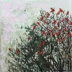Mahpeyker Yönsel - 'Birds', 25x25 cm, TÜAB, 2016