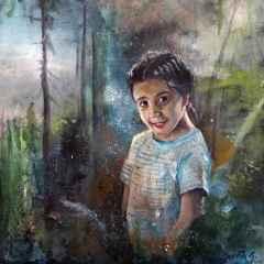 Semih Çınar - 'Ormanda', 25x25 cm, TÜYB, 2016