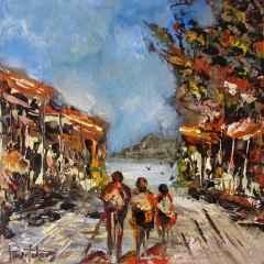 Pınar Toker - 'Sokak', 25x25 cm, TÜYB, 2016