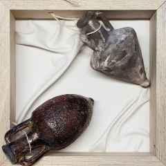 Feyhan Bayık - 25x25 cm, Beyaz Kil, Raku Tekniği 1100 °C
