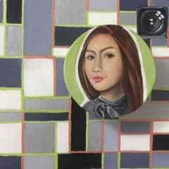 Gizem Fatma Çetin - 'Selfie', 25x25 cm, TÜKT, 2017