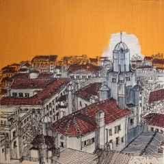 Sümeyye Yuşan - 'Kule sokak', 25x25 cm, TÜKT, 2017