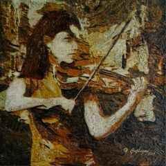 Hasan Çağlayan - Kadın-III - 25x25 cm - TÜKT - 2018