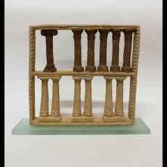 Mete Bahtiyar Karataş - Byzantion Numbers, 28x24x6 cm, Elle Şekillendirme, Stoneware, 2018